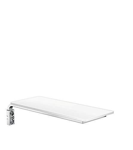 hansgrohe Seifenablage Casetta E Shampoo- und Duschgelablage, Weiß/Chrom
