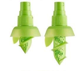 Spremiagrumi Spray Spruzza Succo di Frutta Vaporizzatore Succo di Limone Lime e Arance con Tappo 2 Pezzi