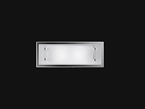 Applique da parete Perenz 5745 B Lampada da parete realizzata in vetro di colore bianco