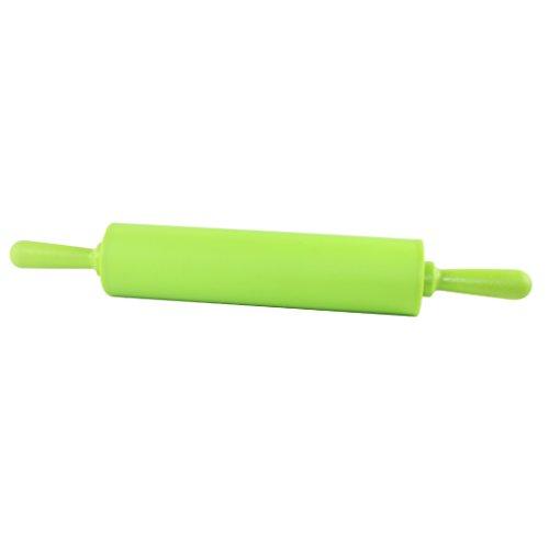 Dianoo Nudelholz - Silikon Food Grade Teig Rolling Pin - 12-Zoll-Antihaft -Teig-Rolling Pin - Grün