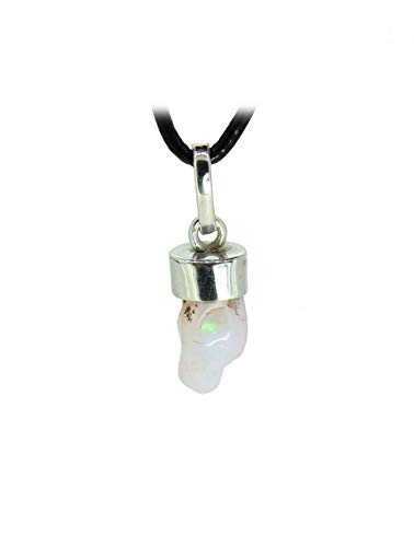 budawi® - echter Edelopal Anhänger Kettenanhänger 925er Silberkappe, Opalanhänger