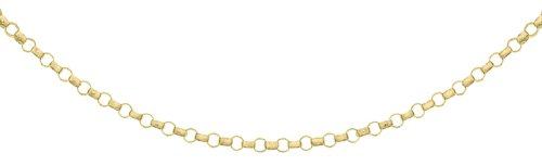 Carissima Gold Women's 9 ct Yellow Gold 1.3 mm Round Belcher Chain Necklace of Length 41 cm/16 Inch
