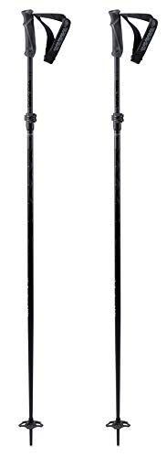 K2Freeride flipjaw Black Bastones de esquí, Unisex Adulto, 10C3040.1.1.115-135, Negro, 115-135 cm