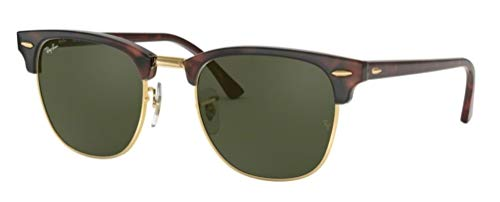 Ray-Ban RB3016 Clubmaster Classic Unisex Sunglasses (Tortoise Frame/Green G-15 Lens W0366, 51)