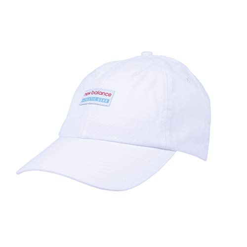 New Balance Men's and Women's Classic 6 Panel Hat (White, One Size)