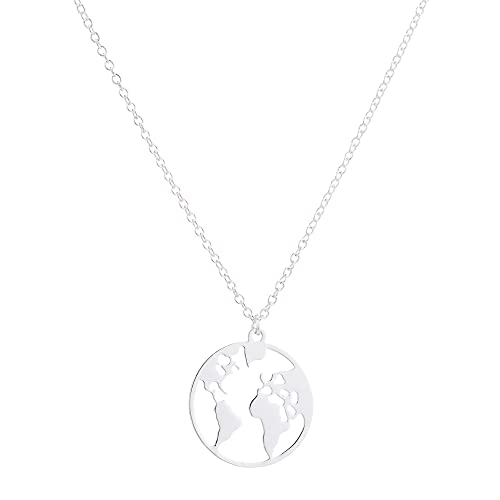 Collar Collar Con Mapa Del Mundo De Origami Vintage, Collar Geométrico Para Mujer, Collar Redondo, Collares Y Colgantes Circulares, Gargantilla, Joyería