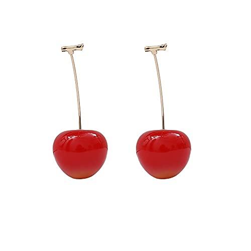 Pendientes De Mujer Pendientes Rojo Cereza Pendientes Colgantes De Frutas Accesorios De Joyería De Moda para Mujer Pendientes Colgantes De Frutas