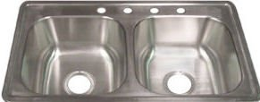 33x19x8 Stainless Steel Kitchen Sink for Mobile Home