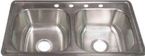 33x19x8 Single Bowl Stainless Steel Kitchen Sink