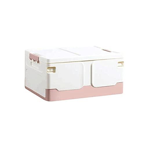 FEIHAIYANY zwl cajas de almacenamiento, caja de almacenamiento de plástico plegable para ropa, mantas, armarios, dormitorios y más (48,8 x 35,8 x 23,9 cm), color: azul, rosa, azul oscuro (color: rosa)