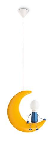 Lámpara colgante amarilla, 50 W, Color amarillo