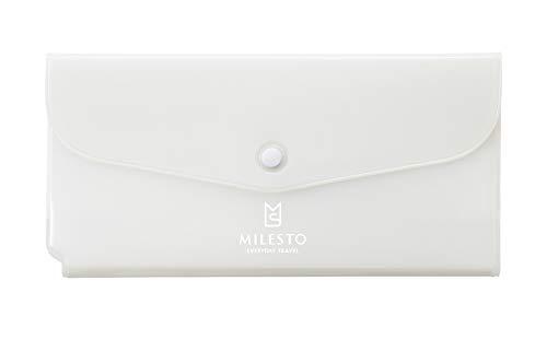 [ミレスト] MILESTO ミレスト パスポートケース 透明 かわいい トラベルオーガナイザー UTILITY MLS696 11 cm 白 ホワイト white