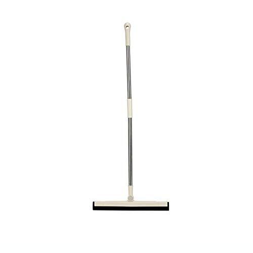 Bodenwischer Garage Professional Schaum Wasser Rakel Boden mit Griff 90 cm 180 ° drehbar Schaum Kopf Fensterputzer Scheibenwischer für Badezimmer Duschböden Fliesen (weiß) Fensterreiniger Zubehör
