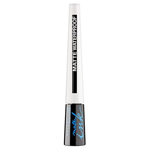 Maybelline New York Flüssiger Eyeliner, Wasserfest, wischfest und langanhaltend, Lasting Drama Liquid Ink Matte Eyeliner, 12 Black, 2,5 ml