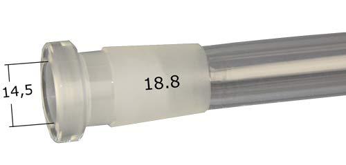 Weedness Bong Glass Adaptador chillum 18.8 mm a 14.5 mm Corte 13 cm difusor 3 Partes - Accesorios Shillum Adaptador de Cabeza Enchufe chillum Acoplamiento