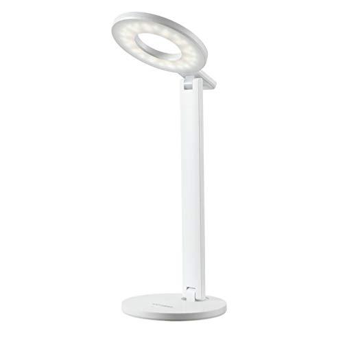 XUNMAIFDL Tragbar LED Schreibtischlampe mit Touch-Control 3 Stufen Farbtemperatur Schreibtischlampe,Blendfrei Bildschirm Leselampe USB-Ladeanschluss Augenschutz, White