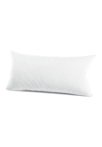 schlafgut 035-011 Mako Jersey Kissenbezug / 40 x 80 cm, Weiss