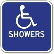 BRILLON Aluminium-Schild für Rollstuhl, 30,5 x 30,5 cm
