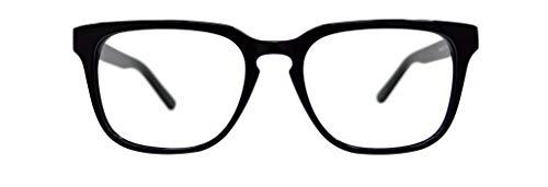 GLOBAL VISION Montatura per occhiali da vista da uomo in acetato - Made in Italy (C1 - Black)