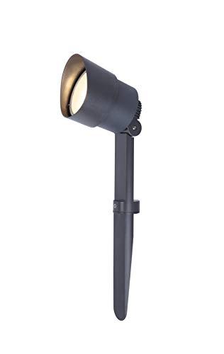 Lámpara LED con estaca para el suelo con 380 lúmenes, fácil instalación...