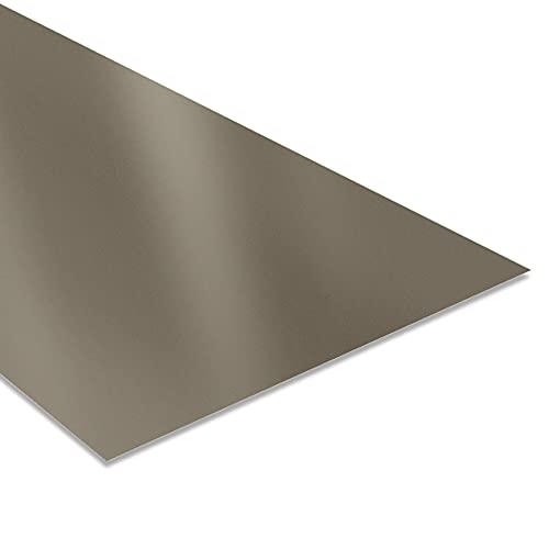Tôle Plane - Tôle Bardage Extérieur - 2000x1200 mm - Surface Recouverte 2,4 m² - Acier Laqué 0,63 mm - Revêtement Polyester 25 µm - Toiture Plaque Garantie 10 ans - Gris beige RAL 7006 - BACACIER