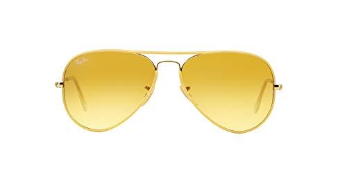 Gafas Ray Ban amarillas estilo aviador