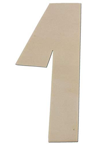 Kleenes Traumhandel Zahl aus Holz - Größe wählbar - bis 80 cm Höhe wählbar Typ 2 Holzzahlen Holzzahl (20 cm, 1)