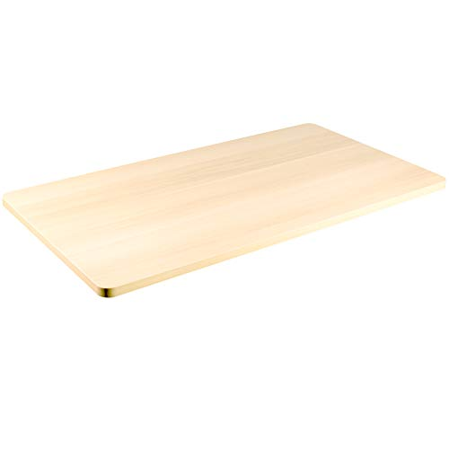 VIVO Light Wood 43 x 24 inch Universal Solid One-Piece Table Top for Standard and Sit to Stand Height Adjustable Home and Office Desk Frames (DESK-TOP43C)