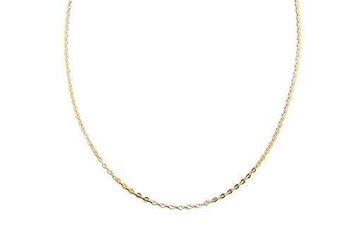Miore Kette Gelbgold 9 Karat / 375 Gold Kette Belcher Kette 45 cm