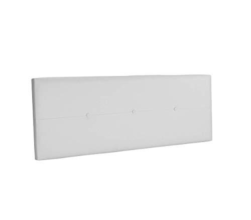 DHOME Cabecero de Polipiel o Tela AQUALINE Pro cabeceros Cabezal tapizado Cama Lujo (Polipiel Blanco, 160cm (Camas 150/160))