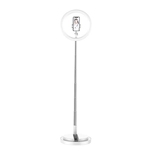 NOBRAND Jungle-A 10 Inch LED Ring Light Lamp with Adjustable Stand Soft Tube, Selfie Camera Phone Studio Round Stand Telescopic Video Dimmable