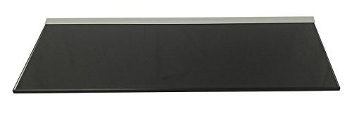 Glasregal 50x20 cm /8mm schwarz lackiertes Glas Wandprofil LINO8 Alu Silber/Glasablage / 1 Regal