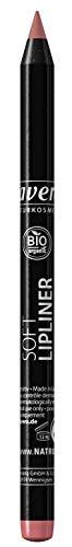 lavera Soft Lipliner -Rose 01- Lippenkonturenstift ∙ Geschmeidig cremige und lang haftende Textur Naturkosmetik Natural Make-up Bio Pflanzenwirkstoffe 100% natürlich 3er Pack (3x 1.4 g)