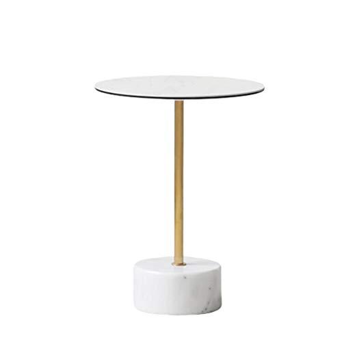 LICHUAN Mesa de café pequeña mesa de café de lujo simple mármol mesa de café estilo nórdico moderno creativo mesa de café mesa de café mesa auxiliar sala de estar