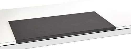 Luxentury Schreibtischunterlage Schreibunterlage Leder Kantenschutz: 80x40 cm Echtleder abgewinkelt Auflage schwarz rutschfest für Büro