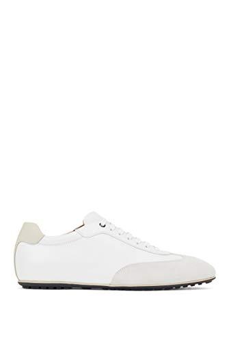 BOSS Herren Portobello Lowp In Italien gefertigte Lowtop Sneakers aus Leder-Mix Größe 44.5