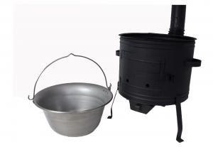 Set Ungarischer Ofen + Gulaschkessel Topf Eisen 14 Liter Gulaschkanone Holzofen Suppenkessel