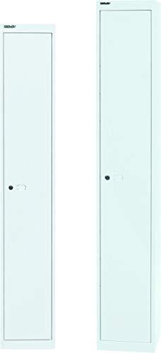 BISLEY Garderobenschrank Office| Kleiderspind aus Metall | Umkleideschrank | Spind Spint | in 4 Farben & 2 Größen (Weiß, Tiefe = 30.5cm)