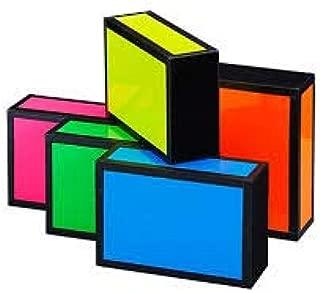 Henrys Juggling Wooden Cigar Box - Bright Neon Colors (Neon Blue w/Black Tape)
