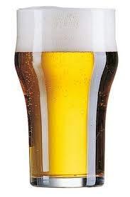 Rekean Nonic Original - Vaso de cerveza pinta sin pie apilable, 28 cl, 6 unidades
