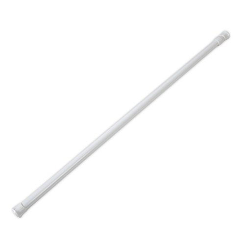 Xnferty Spring Tension Curtain Rods, Adjustable Cupboard Rod Extendable Width Fit in The Spaces Plastic Shower Tension Rod