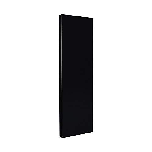 Eureka_MFG Black Painted Wall Mounted Folding Deluxe Ironing Board