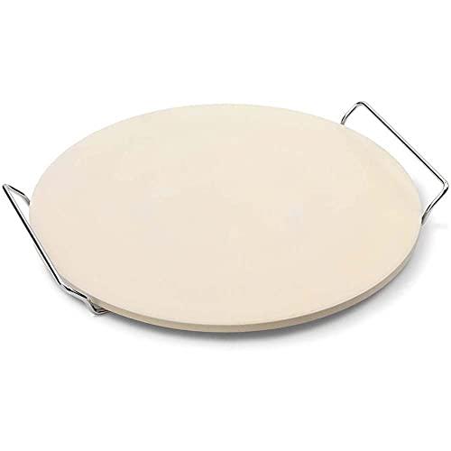 ATIN Pampered Pizza Stone - Horno redondo para horno de cocinero, tamaño grande