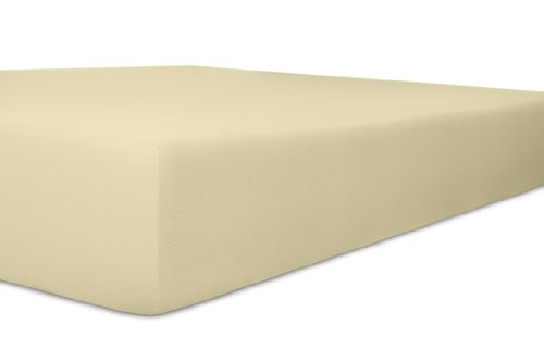 Kneer Spannbettlaken, Spannbetttuch, Easy-Stretch Qualität 25-120 x 200 in verschiedenen Farben Ecru