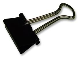 Rapesco - Caja de 10 pinzas / clips de 50mm, hasta 240 hojas, color negro