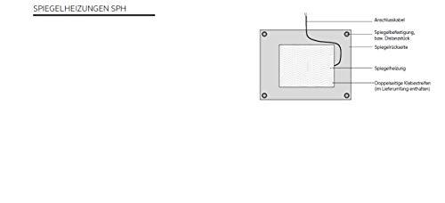 AEG Spiegelheizung SPH 55 verhindert das Beschlagen des Spiegels im Badezimmer 55 W 60×50 Bild 2*