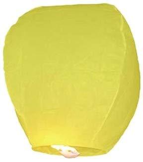 EUTOPICA Pack 10 Lanternes Volantes colorées (Jaune) - Sky Lanterns