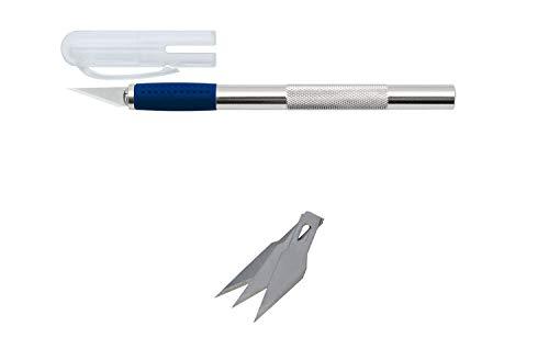 Wedo 78621 Skalpell und Ersatzklingen (aus Aluminium) silber