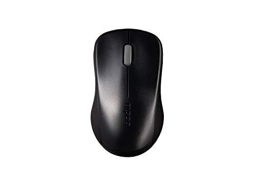 Rapoo 1620 kabellose Maus, 2,4 GHz Wireless via Nano-USB-Empfänger, ergonomisch, 1000 DPI optischer Sensor, Links- und Rechtshänder, schwarz