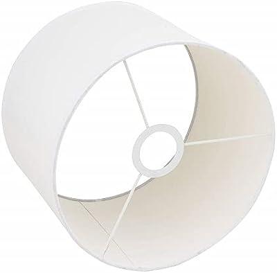 Rayher 2308302 abat-jour rond pour lampes, 25cm ø x 15 cm, 100% polyester, blanc